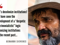 Gerardo Sieveres of the Admirable Campesino March and the Platform for Campesino Struggle